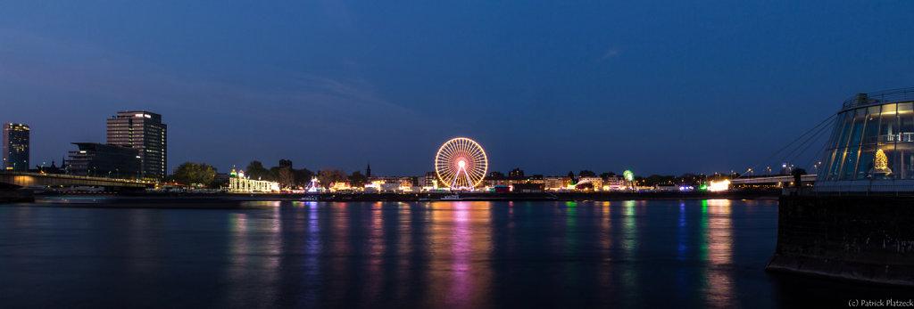 Panoramaansicht des Kölner Frühlingfestes